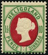 HELGOLAND 1867, Nr. 14e, 11/2P/10 Pf, BLÄULICHGRÜN/KARMIN, POSTFRISCH, MI. 25,- - Héligoland