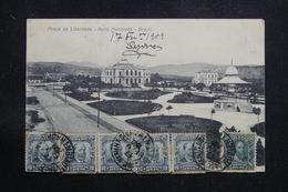 BRÉSIL - Affranchissement Plaisant Sur Carte Postale Pour La France En 1909 - L 60881 - Briefe U. Dokumente