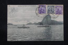 BRÉSIL - Affranchissement Plaisant Sur Carte Postale Pour La France En 1909 - L 60882 - Briefe U. Dokumente