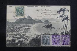 BRÉSIL - Affranchissement Plaisant De Rio De Janeiro Sur Carte Postale Pour La France En 1910 - L 60883 - Briefe U. Dokumente