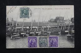 BRÉSIL - Affranchissement Plaisant De Rio De Janeiro Sur Carte Postale Pour La France En 1911 - L 60884 - Briefe U. Dokumente
