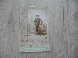 Photo Originale Cabinet Grand Format Guerre Militaire Besson Chamberry Chasseur Alpin 22 Au Col Edelweiss - War, Military