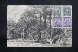 BRÉSIL - Affranchissement Plaisant De Rio De Janeiro Sur Carte Postale Pour La France En 1908  - L 60890 - Briefe U. Dokumente