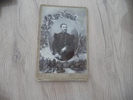 Photo Originale Cabinet Grand Format Guerre Militaire Léon Grenoble 4 ème Régiment De Génie - Guerre, Militaire