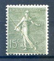France N°130 Neuf* - Variété Trait De Couleur (provenant D'un Pli De Papier Avant Impression, Voir Verso) - (F052) - Marcophilie (Lettres)