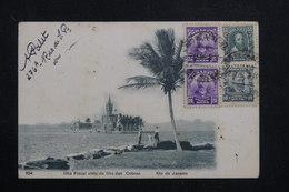 BRÉSIL - Affranchissement Plaisant De Rio De Janeiro Sur Carte Postale Pour La France En 1908  - L 60891 - Briefe U. Dokumente