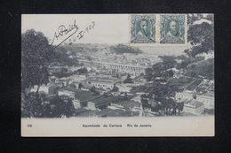 BRÉSIL - Affranchissement Plaisant De Rio De Janeiro Sur Carte Postale Pour La France En 1908  - L 60893 - Briefe U. Dokumente