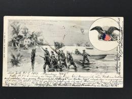 Ansichtskarte Postcard - New York 1899 Nach München - Other
