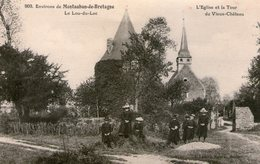 RARE - Ile Et Vilaine - Lou Du Lac (Montauban De Bretagne) - Château Et église - Autres Communes