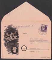 Briefgesichter DRESDEN N30 Adressen-Müller, Bücherzettel 6 Pf. Gerhard Hauptmann Nach Glauchau - DDR