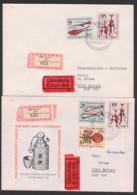 Karl-Sudhoff-Institut Leipzig Portorichtige Briefe Mit SoSt. BERLIN Vom Ersttag Medizin Haarseilzange, Bilsenkraut - DDR