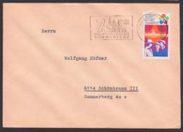 HALBERSTADT MWSt. 7. Halberstädter Sommerfest, Fernbrief Mit 20 Pf. Weltfestspiele Der Schüler Und Studenten - DDR