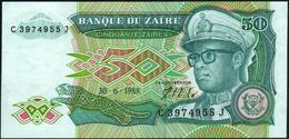 ZAIRE - 50 Zaires 30.06.1988 {Mobutu} UNC P.32 - Zaïre
