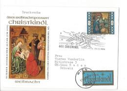 24857 - Christkindl 1984 Cover Lettre Pour Baden 24.12.1984 + Vignette - Christmas