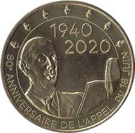 2020 MDP175 - COLOMBEY-LES-DEUX-EGLISES 10 - Mémorial Charles De Gaulle (1940-2020) / MONNAIE DE PARIS - Monnaie De Paris
