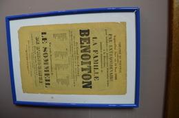 Affiche Théatre à TOURNAI 14 Mars 1866 (A4 Format) - Afiches
