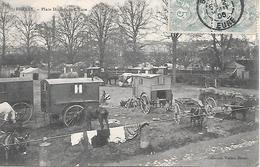 BERNAY  ( 27 ) - Place Dupont De L'Eure  ( Roulottes De Gitans ) - Louviers