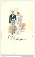 23 SAINT MARC à  FRONGIER -  Hotel THOMAS , Menu Du 26 Avril 1955 Mariage De - Otros Municipios