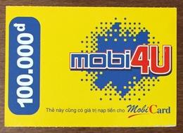VIÊT-NAM CARTE MOBI 4U MOBICARD EXP 31/12/2003 PRÉPAYÉE PRÉPAID PHONECARD PAS UNE TÉLÉCARTE - Vietnam