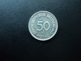 RÉPUBLIQUE FÉDÉRALE ALLEMANDE : 50 PFENNIG   1989 F   KM 109.2    SUP+ - [ 7] 1949-… : RFA - Rep. Fed. Alemana