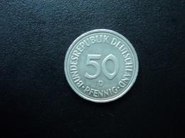 RÉPUBLIQUE FÉDÉRALE ALLEMANDE : 50 PFENNIG   1991 D   KM 109.2    SUP - [ 7] 1949-… : RFA - Rep. Fed. Alemana