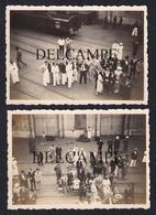 TWO REAL PHOTOS PORTUGAL MOÇAMBIQUE PONTE CAIS DE LOURENÇO MARQUES - DESEMBARQUE DO PAQUETE MOUZINHO - 1937 (SÃO FOTOS) - Mozambique