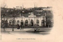 CP 47 Lot Et Garonne Agen Gare Et Côteau De L'Ermitage - Agen