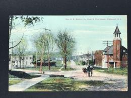 Ansichtskarte Postcard - Erie R. R. STation. Ivy Lane & Fire House Highwood New Jersey 1908 - Vereinigte Staaten