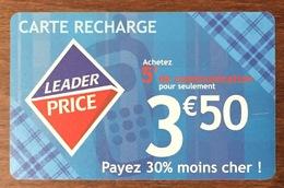 LEADER PRICE BOUYGUES CARAÏBE 3,5 EUROS RECHARGE GSM PRÉPAYÉE PREPAID PHONECARD CARD - Antilles (French)