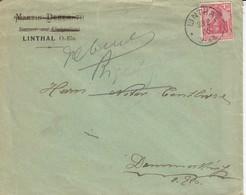Env Affr Michel 86 Obl LINTHAL  Du 23.2.06 Adressée à Dammerkirch - Marcophilie (Lettres)