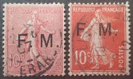 DF40266/1798 - FRANCE - F.M. (FRANCHISE MILITAIRE) - TYPE SEMEUSE - N°4 Et 5 ☉ - Franchise Stamps