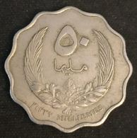 LIBYE - LIBYA - 50 MILLIEMES 1965 ( 1385 ) - KM 10 - ( Idris I ) - Libye