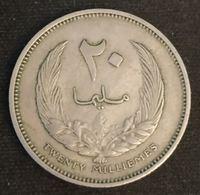 LIBYE - LIBYA - 20 MILLIEMES 1965 ( 1385 ) - KM 9 - ( Idris I ) - Libye