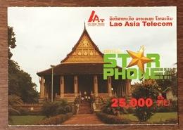 LAOS LAO STAR PHONE 25,000 PRÉPAYÉE PRÉPAID PHONECARD PAS UNE TÉLÉCARTE - Laos