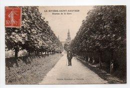 - CPA LA RIVIÈRE-SAINT-SAUVEUR (14) - Avenue De La Gare 1908 - Edition Brasseux - - France