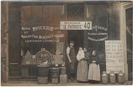 76  Carte Photo  A Localiser  Ou A Identifier  Aux Environs De Rouen Peut Etre Deville Les Rouen  Epicerie - Ohne Zuordnung