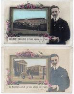 De MONTPELLIER, Je Vous Envoie Ces Fleurs - 2 CPA - Fantaisies (1033 ASO) - Montpellier