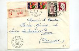 Lettre Recommandée Carolles Sur Decaris Tlemcen - Marcophilie (Lettres)