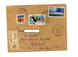 Lettre Recommandée Paris 68 Sur Macareux Orly - Marcophilie (Lettres)