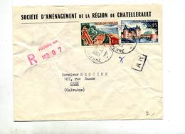 Lettre Recommandée Poitiers Sur Sully Touquet - Marcophilie (Lettres)