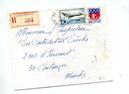 Lettre Recommandée Cametours Sur Mystere 20 - Marcophilie (Lettres)