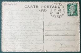 France N°171 (perforé) Sur CPA - (B140) - 1921-1960: Moderne
