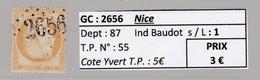 GC 2656 Nice ( Dept 87 ) S / N° 55 - 1849-1876: Classic Period