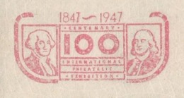 EMA METER FREISTEMPEL USA SAINT LOUIS CENTENARY OF STAMPS 1847 1947 PRESIDENT WASHINGTON PHILATELIE EXHIBITION - George Washington