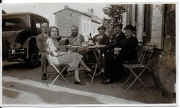 PHOTO PHOTOGRAPHIE GROUPE DE PERSONNES SAINTE FOY LES LYON 69 RHÔNE 1937 AUTOMOBILE - Lieux