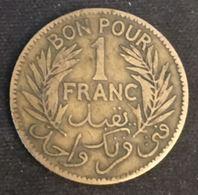 TUNISIE - TUNISIA - BON POUR 1 FRANC 1921 - Chambre De Commerce - KM 247 - Tunisia