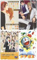 2045 - 4 Manga Anime Japan Telefonkarten - Stripverhalen