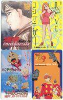 2047 - 4 Manga Anime Japan Telefonkarten - Stripverhalen