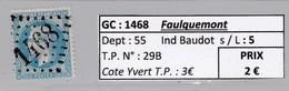 GC 1468 Faulquemont ( Dept 55 ) S / N° 29B - Marcophilie (Timbres Détachés)