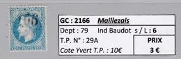 GC 2166 Maillezais ( Dept 79 ) S / N° 29A - Marcophilie (Timbres Détachés)